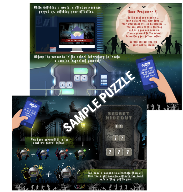 Digital escape room game