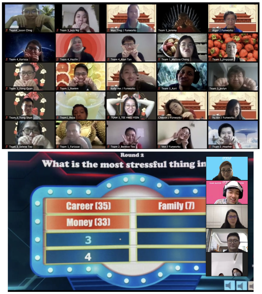 Virtual Game Show team building